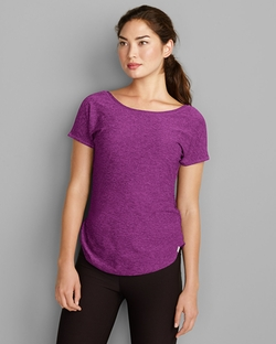 Infinity Cap-Sleeve T-Shirt by Eddie Bauer in Easy A