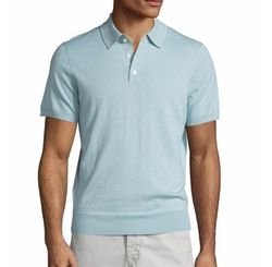 Cashmere-Silk Polo Shirt by Neiman Marcus in Lethal Weapon