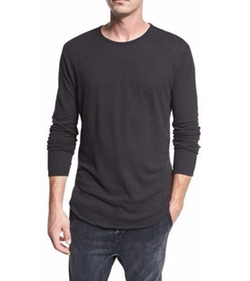 Raw-Hem Crewneck T-Shirt by Vince in Animal Kingdom