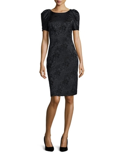 Pleated-Sleeve Floral Sheath Dress by Zac Posen in American Horror Story