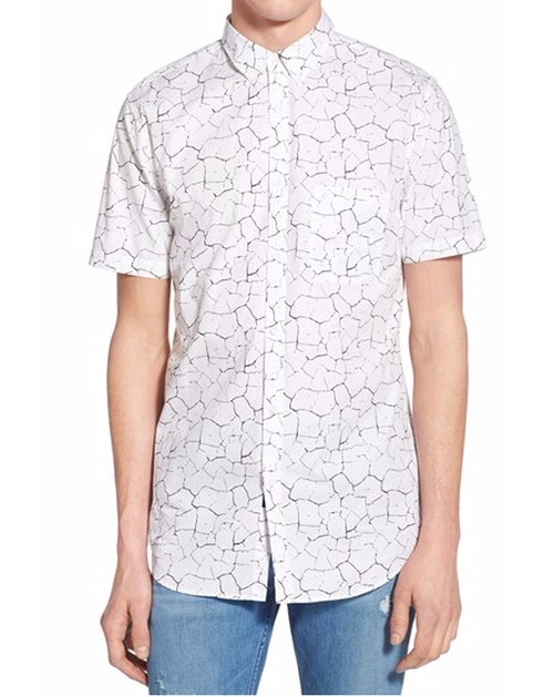 'Seven Ft - Solar' Print Woven Shirt by Zanerobe in A Bigger Splash
