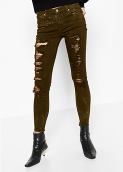 Skinny Mid-Rise Trousers by Zara in Shadowhunters