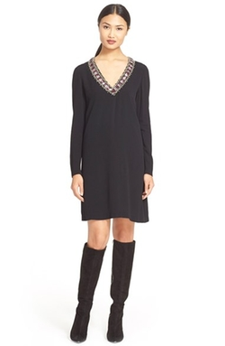 'Prim' Embellished V-Neck A-Line Dress by Alice + Olivia in American Horror Story