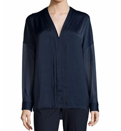 Embroidered-Stitch V-Neck Shirt by Vince in How To Get Away With Murder