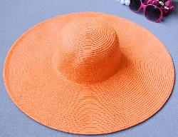 Ladies Bohemia Simple Solid Color Straw Hat by T-explorer in Blended