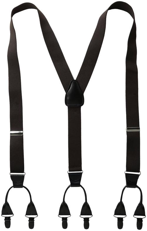 Men's Suspenders 11/4 Inch 6 Clip Button LookPin Clip Closure by Status in Jersey Boys