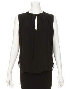Abella Sleeveless Shirred Keyhole Top by L'Agence in Suits