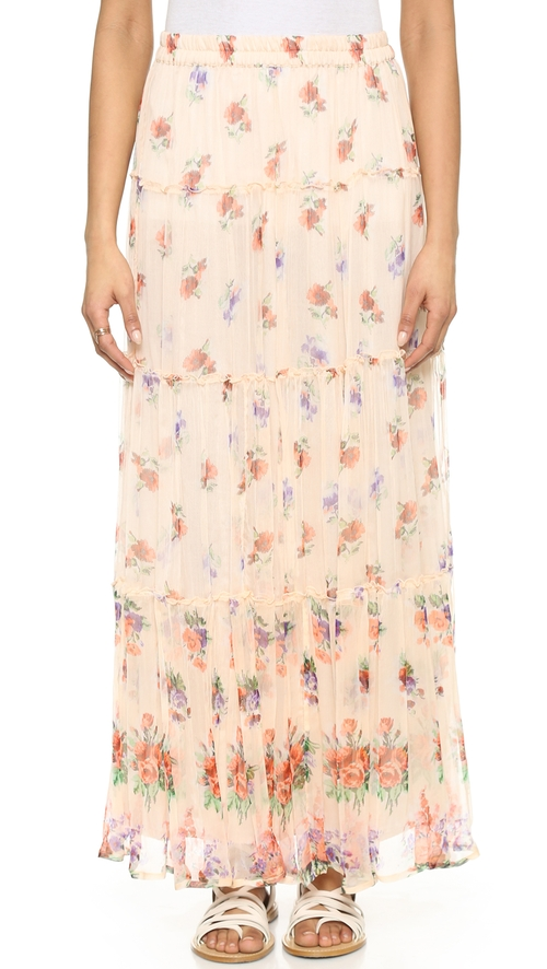 Lily Tiered Maxi Skirt by Love Sam in Scream Queens - Season 1 Episode 1