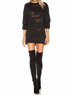 Deconstructed Terry Tunic Dress by Kendall + Kylie in Quantico