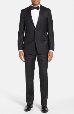 Trim Fit Wool Tuxedo Suit by Michael Kors in Mean Girls
