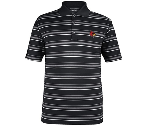 Louisville Cardinals Stripe Polo Shirt by Adidas in Crazy, Stupid, Love.