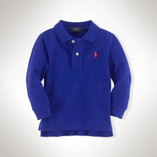 Long-sleeved Cotton Polo Shirt by Ralph Lauren in The Place Beyond The Pines