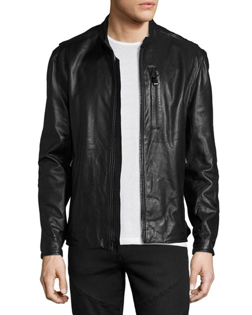 Mackinley Leather Moto Jacket by Andrew Marc in Once Upon a Time