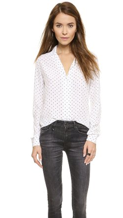Adalyn Dotted Blouse by Equipment in That Awkward Moment