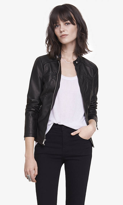 Minus The Leather Jacket by Express in Pretty Little Liars - Season 6 Episode 2