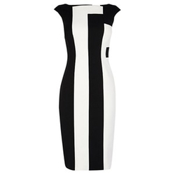 Vertical Stripe Dress by Karen Millen in Empire
