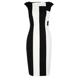 Vertical Stripe Dress by Karen Millen in Empire