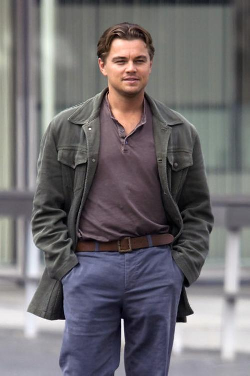 Custom Made Corduroy Field Jacket by Jeffrey Kurland (Costume Designer) in Inception