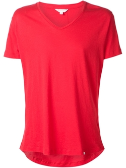 V-Neck T-Shirt by Orlebar Brown in Rosewood