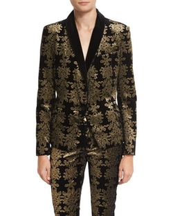 (Altered) Brocade Velvet Blazer by 7 For All Mankind in Pitch Perfect 3