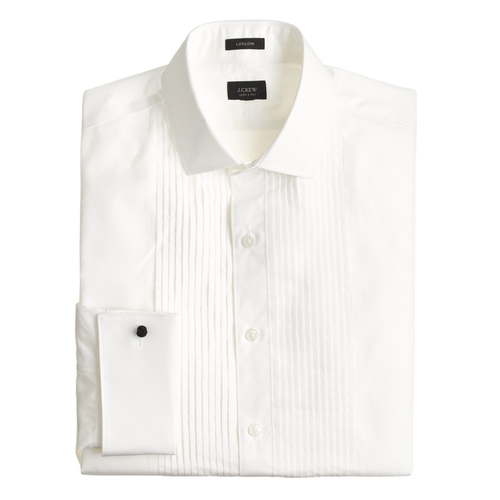 Pleated Tuxedo Shirt by Ludlow in Crimson Peak