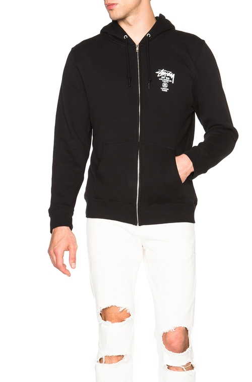World Tour Zip Hoodie by Stussy in The Ranch -  Looks