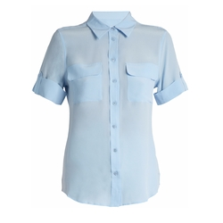 Signature Short-Sleeved Silk Shirt by Equipment in Santa Clarita Diet