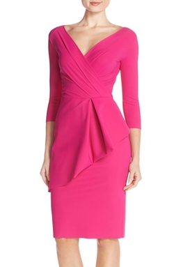 'Stellina' Peplum Jersey Sheath Dress by Chiara Boni La Petite Robe in Empire