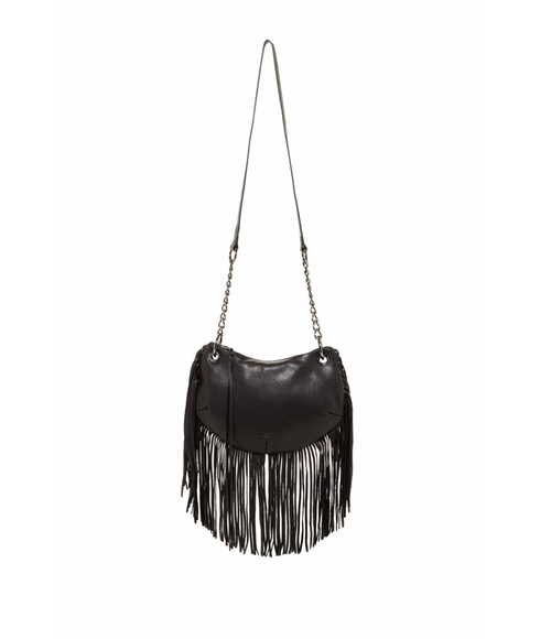 Carli Fringe Small Leather Crossbody by Sorial in Pretty Little Liars - Season 6 Episode 20