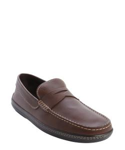 Cocoa Leather Moc Toe Penny Loafers by Tod's in The Judge