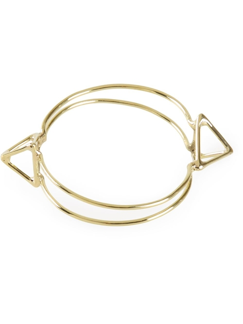 Double Pyramid Bangle Bracelet by Anndra Neen in We Are Your Friends