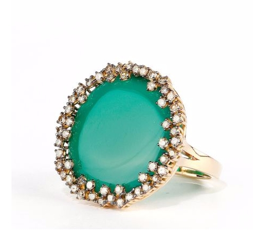 18K Gold Green Onyx Ring by Suzanne Kalan in The Bachelorette - Season 12 Looks