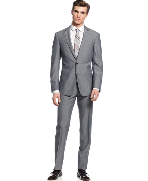 Extra Slim Fit Suit by DKNY in Dr. No