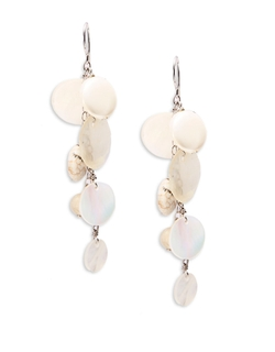 Semi-Precious Stone And Sterling Silver Chandelier Earrings by Lord & Taylor in Scream Queens