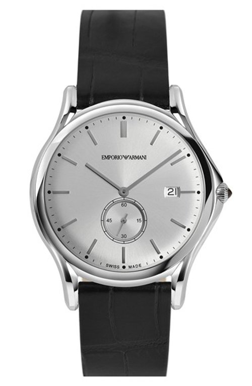 Alligator Leather Strap Watch by Emporio Armani Swiss Made in Fast & Furious 6