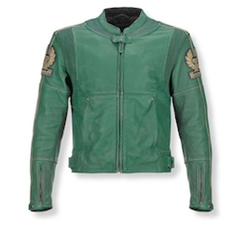 Snetterton Classic Green Moto Leather Jacket by Belstaff in The Counselor