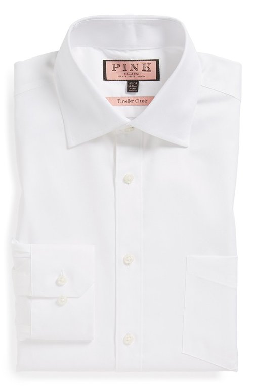 'Traveller' Classic Dress Shirt by Thomas Pink in Blackhat