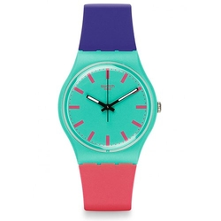 Shunbukin Teal Dial Plastic Silicone Quartz Ladies Watch by Swatch in Me Before You