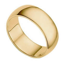 Plain Half Round Classic Wedding Band Ring by Oromi in The Big Bang Theory