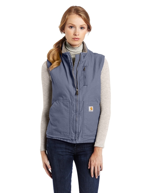 Sandstone Sherpa-Lined Vest by Carhartt in The Heat