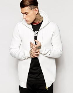 Longline Zip Up Hoodie in Scuba by Asos in The Town