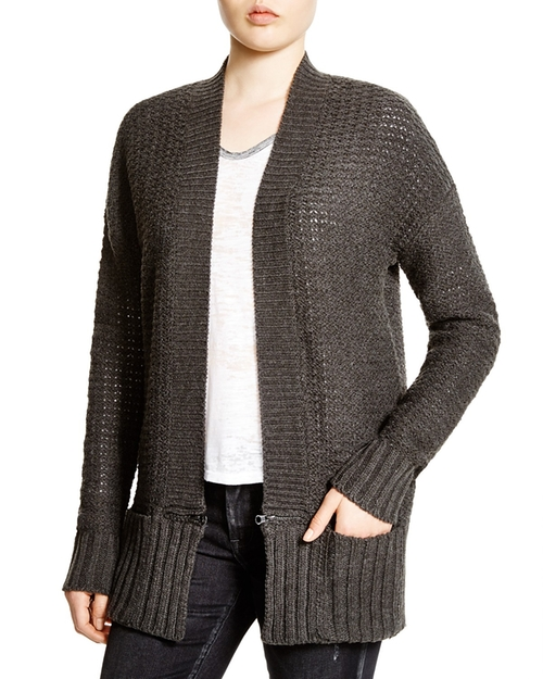 Zip Trim Pointelle Knit Carigan by Aqua in Modern Family