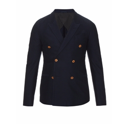 Double Breasted Cotton Drill Blazer by Gucci in Master of None