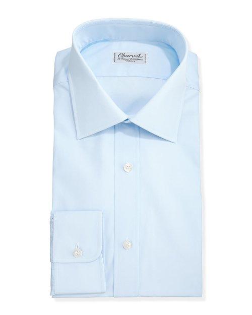 Solid Poplin Dress Shirt by Charvet in Only God Forgives