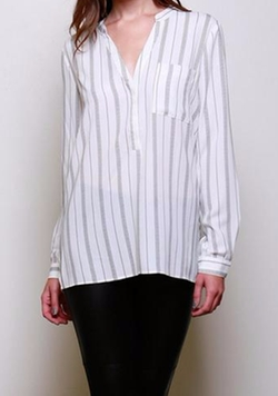 V-Neck Stripe Top by Lumiere in A Bigger Splash