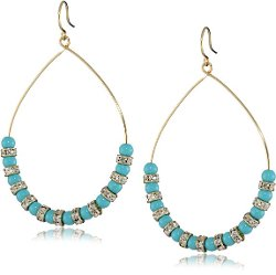 Crystal Beaded Hoop Earrings by Yochi in Pitch Perfect 2