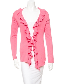 Ruffle Cardigan by Magaschoni in Dope
