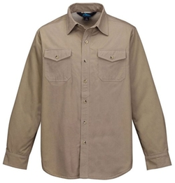 Sherpa Fleece Twill Shirt Jacket by Tri-Mountain in Drive