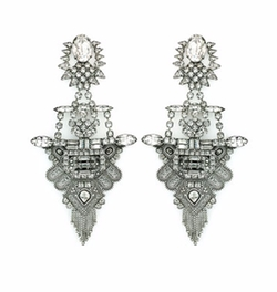 Scarlett Crystal Statement Earrings by Dylanlex in Conviction