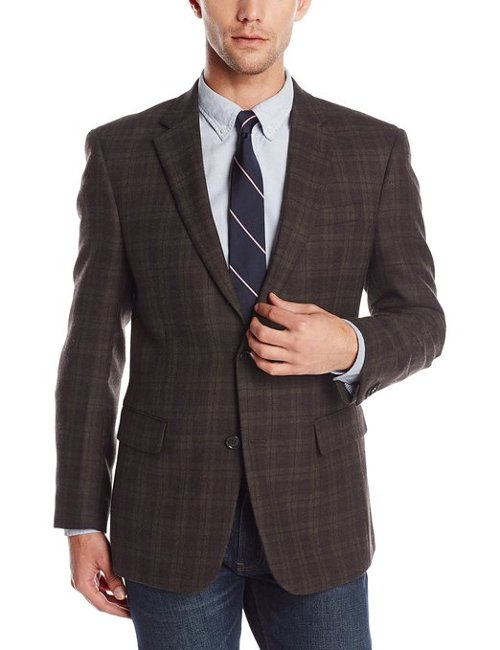 Olive Windowpane Sport Coat by Ralph Lauren in Horrible Bosses 2